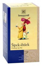 BIO ovocný čaj, Sonnentor Šípek - ibišek, porcovaný, 18 sáčků