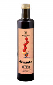 BIO ovocný sirup, Sonnentor Brusinka, 500 ml