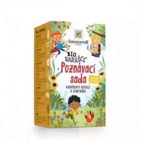 BIO poznávací sada bylinných a ovocných čajů, Sonnentor Bio Rarášci, porcované, 20 sáčků