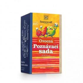 BIO poznávací sada ovocných čajů, Sonnentor Ovocné variace, porcované, 20 sáčků