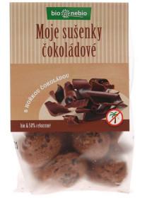 BIO pšeničné sušenky, bio nebio Moje sušenky čokoládové, 130 g