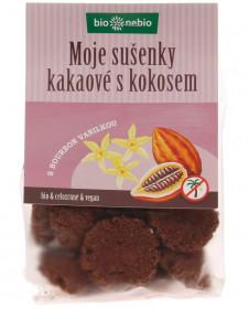 BIO pšeničné sušenky, bio nebio Moje sušenky kakaové s kokosem, 130 g