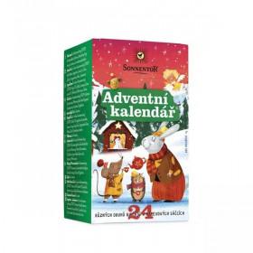 BIO různé čaje mix, Sonnentor Adventní kalendář, porcované, 24 sáčků