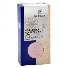 BIO růžová sůl, Sonnentor Ayurvédská kouzelná sůl jemná, krabička, 150 g