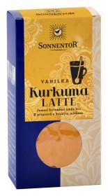 BIO směs koření pro přípravu nápoje, Sonnentor Kurkuma Latte Vanilka, krabička, 60 g