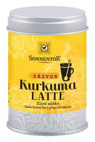 BIO směs koření pro přípravu nápoje, Sonnentor Kurkuma Latte Zázvor - Zlaté mléko, dóza, 60 g