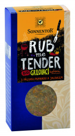 BIO směs koření, Sonnentor Rub me Tender - grilovací koření, krabička, 60 g