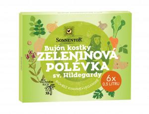 BIO zeleninový bujón kostky, Sonnentor Hildegarda - Zeleninová polévka, bez palmového oleje, 60 g