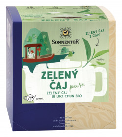 BIO zelený čaj, Sonnentor Pure - Bi Luo Chun, porcovaný, 12 pyramidálních sáčků