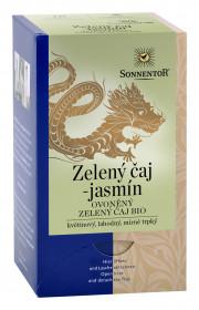BIO zelený čaj, Sonnentor Zelený čaj s jasmínem, porcovaný, 18 sáčků