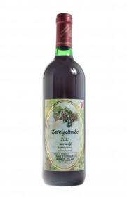 Červené polosuché víno, Vinařství Josef Valihrach Zweigeltrebe 2013 zemské, 11.5% obj., 0.75 l