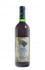 Červené suché víno, Vinařství Josef Valihrach Merlot pozdní sběr 2016, 13.5% obj., 0.75 l