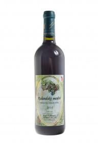 Červené suché víno, Vinařství Josef Valihrach Rulandské modré 2014 zemské, 11% obj., 0.75 l