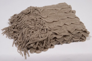 Deka, pletená, 130x150cm, šedá