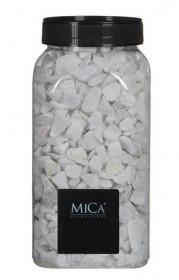 Dekorační drť v dóze, Mica, 650 ml, bílá
