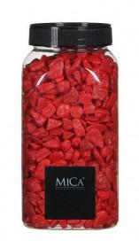 Dekorační drť v dóze, Mica, 650 ml, červená