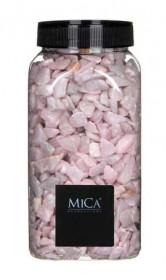 Dekorační drť v dóze, Mica, 650 ml, růžová