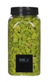 Dekorační drť v dóze, Mica, 650 ml, světle zelená