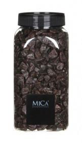 Dekorační drť v dóze, Mica, 650 ml, tmavě hnědá