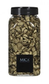 Dekorační drť v dóze, Mica, 650 ml, zlatá