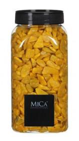 Dekorační drť v dóze, Mica, 650 ml, žlutá