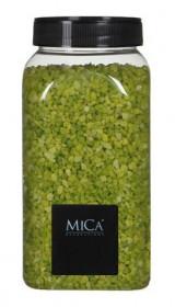 Dekorační granulát v dóze, Mica, 650 ml, světle zelený