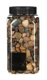 Dekorační kameny v dóze, Mica, 650 ml, velikost 10 - 25 mm, hnědé