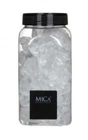 Dekorační kameny v dóze, Mica, 650 ml, velikost 25 - 30 mm, čiré