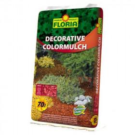 Dekorační kůra Floria DECORATIVE COLORMULCH, balení 70 l, žlutá