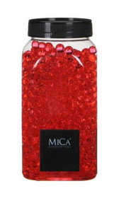 Dekorační perly v dóze, Mica, 650 ml, gelové, červené