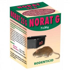 Deratizační nástraha na hlodavce, NORAT 25 G, granule, balení 7 x 20 g