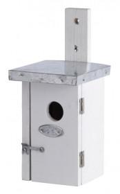Dřevená nástěnná budka pro ptáčky, Esschert Design, bílá