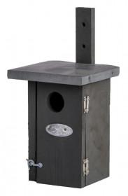 Dřevená nástěnná budka pro ptáčky, Esschert Design, šedá