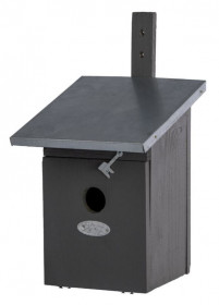 Dřevěná nástěnná budka pro sýkoru koňadru, Esschert Design, šedá