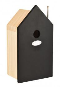 Dřevěná ptačí budka, Esschert Design, černá, velká