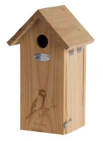 Dřevěná ptačí budka, Esschert Design Dekor pták sýkora, přírodní