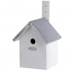 Dřevěná ptačí budka pro sýkoru modřinku, Esschert Design,  bílá