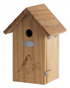 Dřevěná ptačí budka pro sýkoru modřinku, Esschert Design Dekor pták sýkora, přírodní