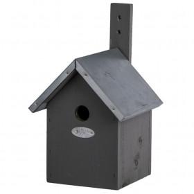 Dřevěná ptačí budka pro sýkoru modřinku, Esschert Design, šedá