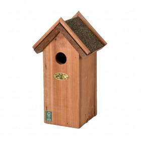 Dřevěná ptačí budka pro sýkoru modřinku, Esschert Design, střecha z šindelu, přírodní