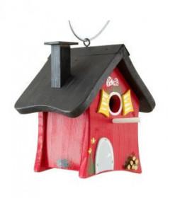 Dřevěná ptačí budka, Vogelvilla Dekor lesní dům, červená
