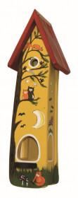 Dřevěná ptačí budka, Vogelvilla Minivila II. lesní zvěř, zápich, žlutá