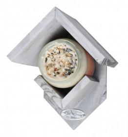 Dřevené krmítko na arašídové máslo, Esschert Design, světle šedé