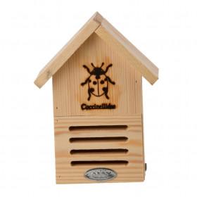 Dřevěný hotel pro berušky, Esschert Design Dům, přírodní