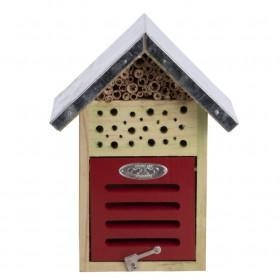 Dřevěný hotel pro hmyz s oplechovanou stříškou, Esschert Design Dům, 24 cm