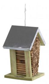 Dřevěný hotel pro včely s oplechovanou stříškou, Esschert Design Dům, přírodní