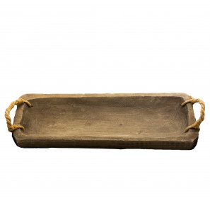 Dřevěný podnos, 58x20.5x7.5cm, hnědá