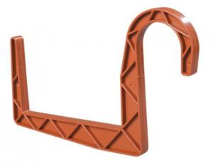 Držák truhlíku 12 univerzální - kulatý závěs, terakotový, 2 ks