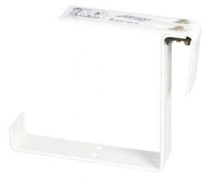 Držák truhlíku PETUNIA - kovový stavitelný, bílý, 2 ks