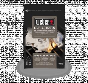 Ekologické podpalovací kostky Weber, černé, 22 ks